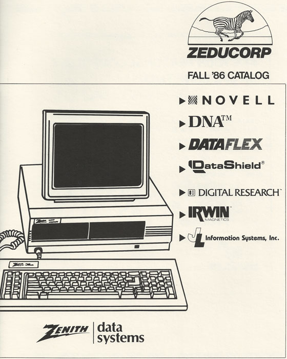 Zeducorp 1986 catalog