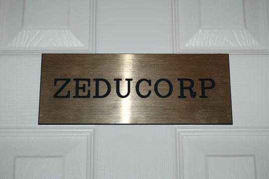 Zeducorp office door